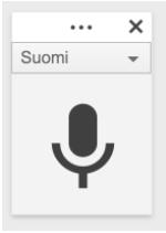 Google Docs puheentunnistus