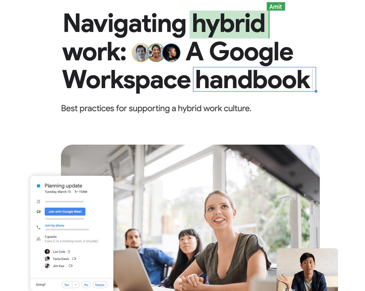 Google Workspace Hybridityöopas